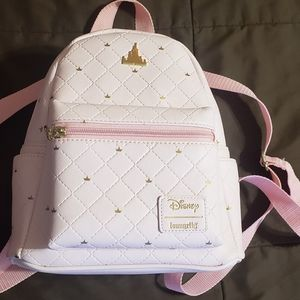 Loungefly Disney Pink Castle Mini Backpack